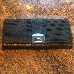 Brand new w/tags vegan leather black clutch